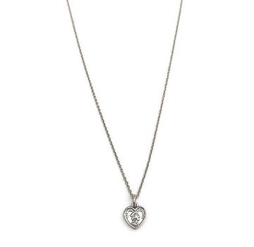 Kywi Jewelry Ketting Munt Hart 925 Zilver