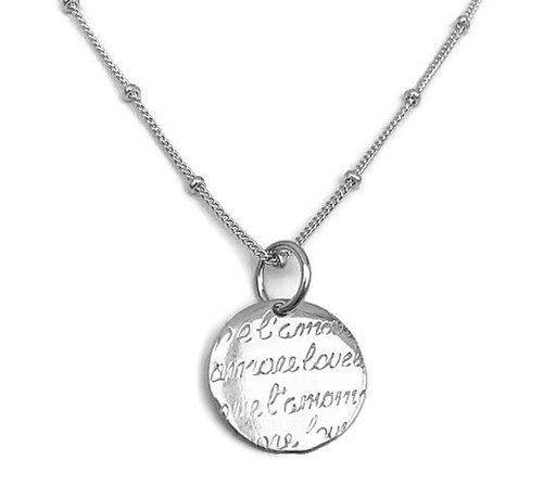Kywi Jewelry Ketting Amore Love 925 zilver