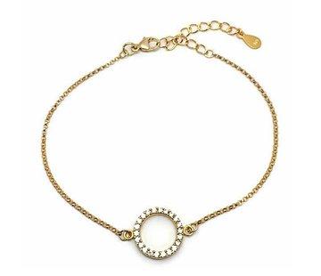 Kywi Jewelry Armband vermeil Goud cirkel zirkonia