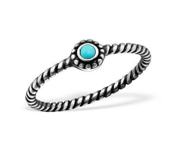 Kywi Jewelry Ring Bali Turkoois 925 zilver