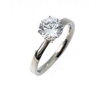 Bud to Rose BudtoRose Ring Diamond steel Silver
