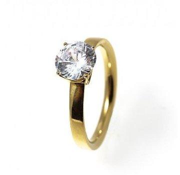 Bud to Rose BudtoRose Ring Diamond steel Gold