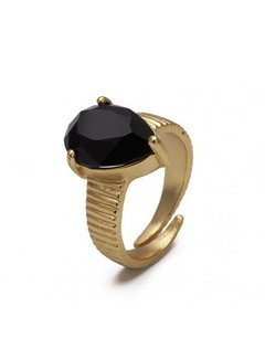 Bud to Rose BudtoRose Ring Liza Black Gold
