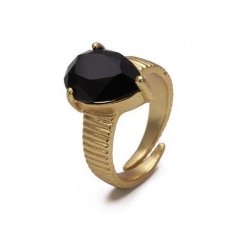 Bud to Rose BudtoRose Ring Liza Black Gold