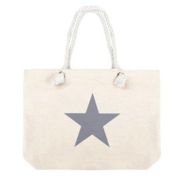 Tas Shopper Star Sand Grey