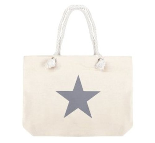 Tas Shopper Star Sand Grey