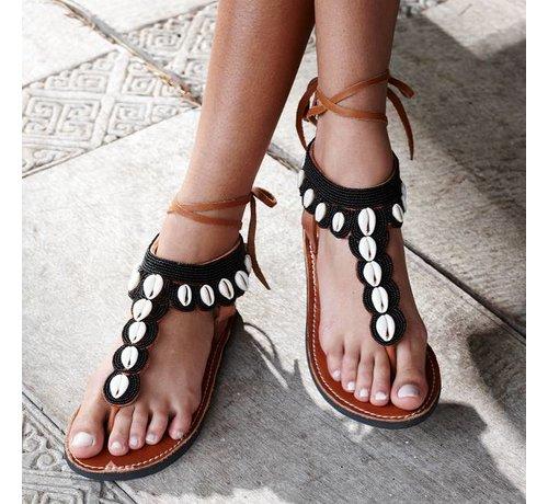 Mzury Mzury slipper Swahili shell Black
