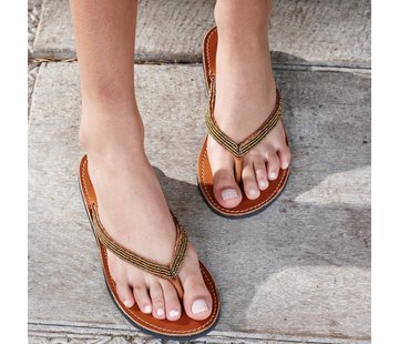 Mzury Mzury slipper Love Bronze