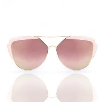 Kywi Jewelry Zonnebril Lady Fashion rosegold Pink