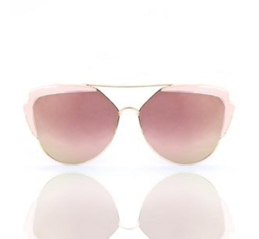 Zonnebril Lady Fashion rosegold Pink
