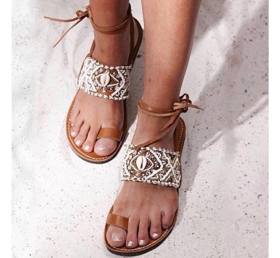 Mzury slipper Bohemian White