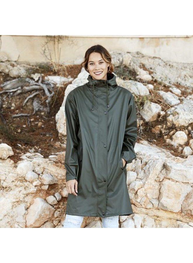 Regenjas Marina Long Rainjacket Green