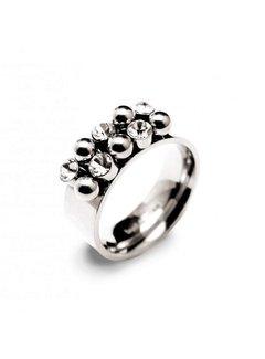 Bud to Rose BudtoRose Ring Bazaar steel Silver