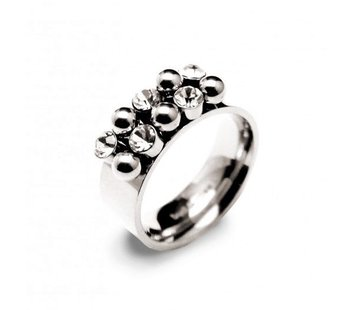 Bud to Rose BudtoRose Ring Bazaar steel Silver