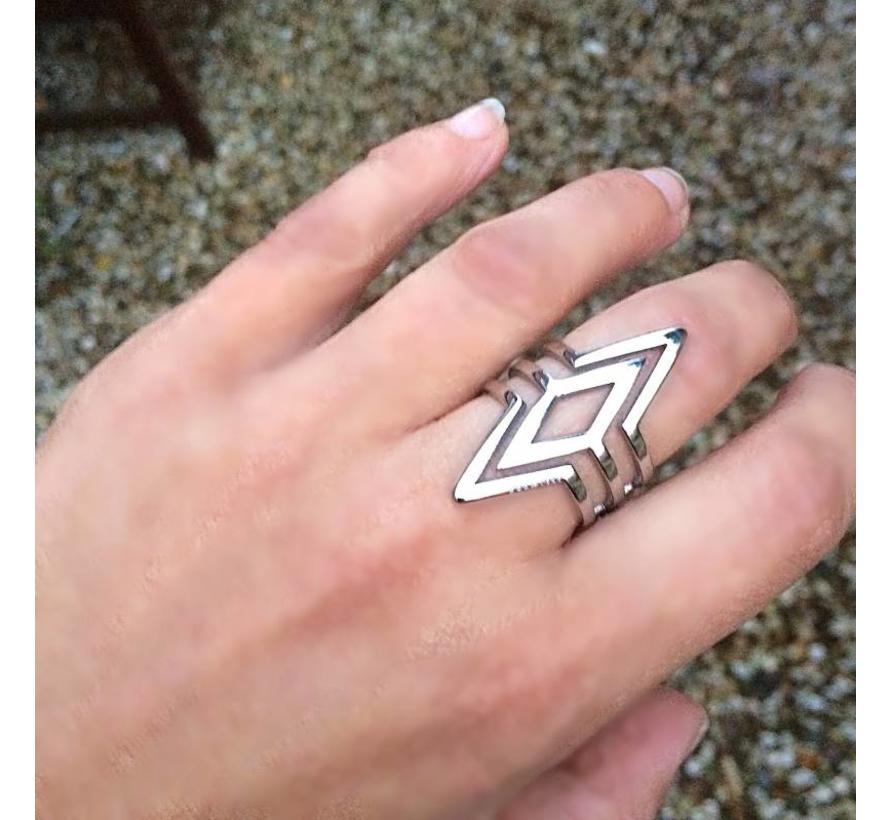 BudtoRose Ring Flash Steel