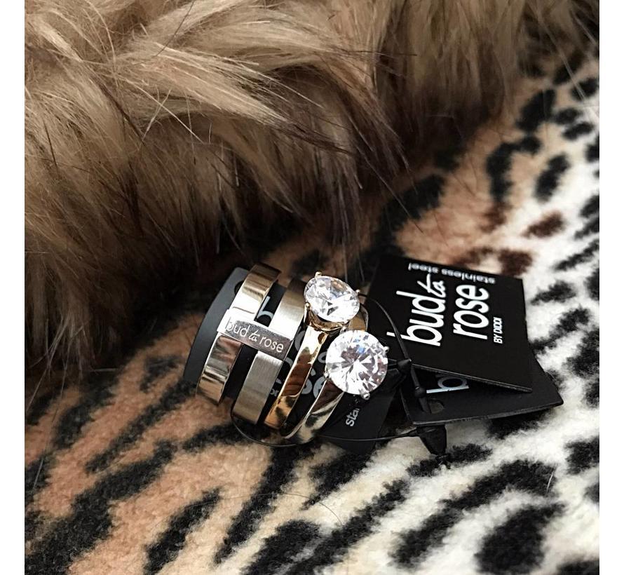 BudtoRose Ring Fenia steel Silver