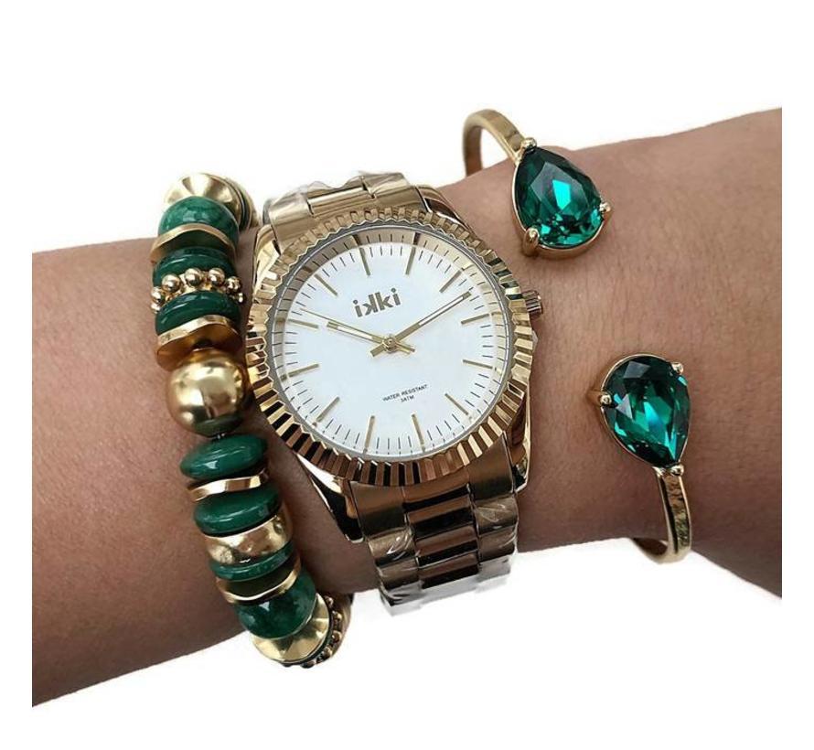 BudtoRose armband Ceylon Green Gold