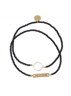 Bud to Rose BudtoRose armband Linn Black Gold