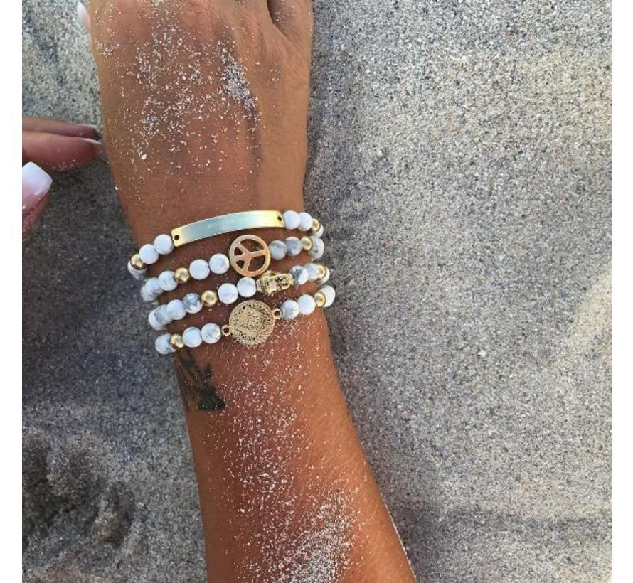 BudtoRose armband Buddha Marble Gold