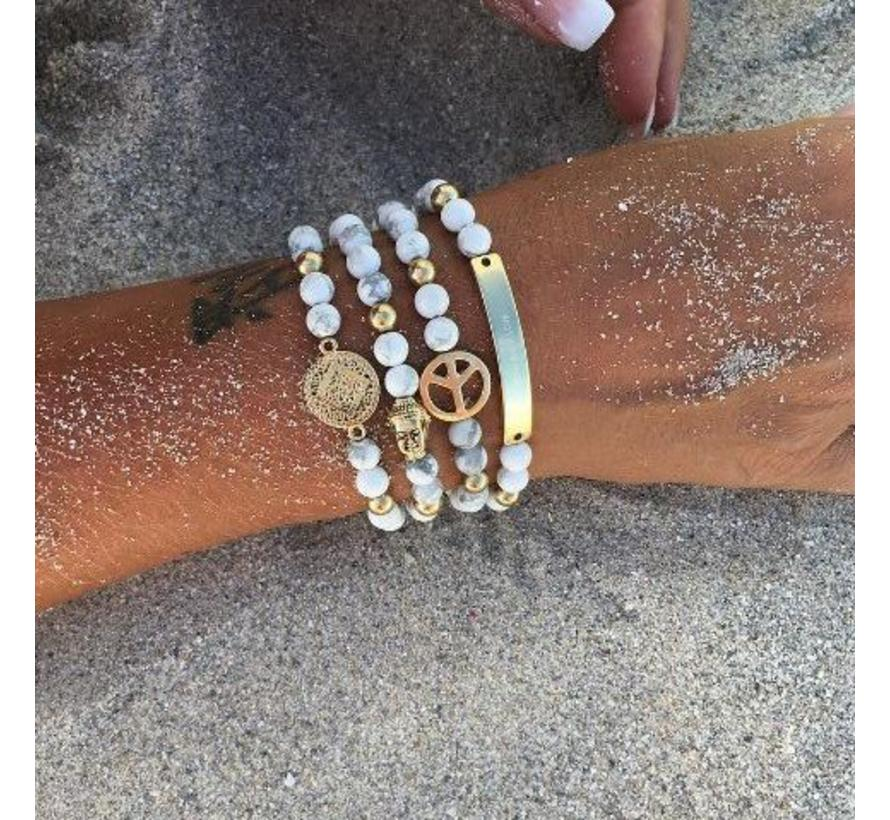 BudtoRose armband Preston Marble Gold