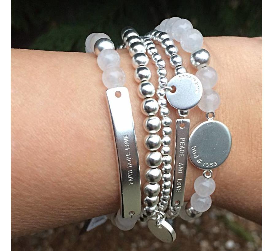 BudtoRose armband Ozone Frost Silver