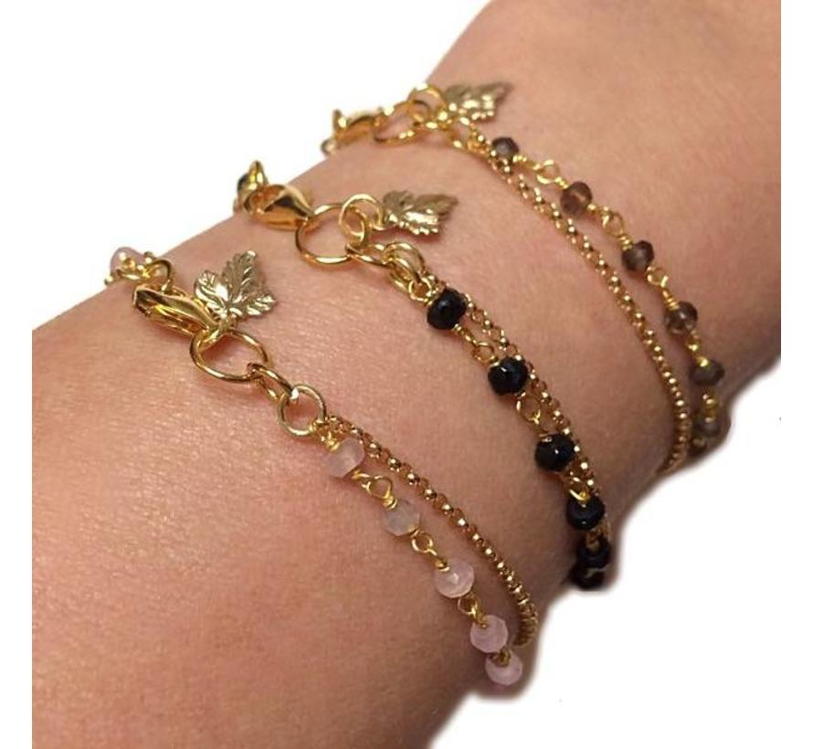 Armband Donna Rookkwarts Goud