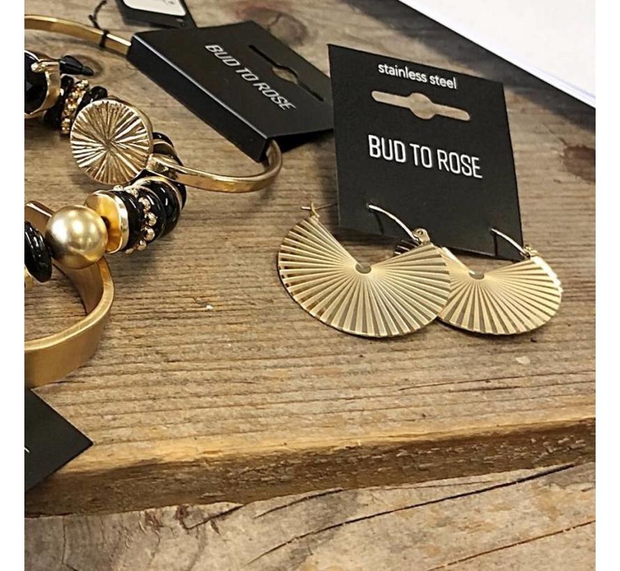 BudtoRose oorbel Hype Steel gold