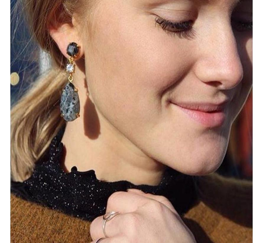 BudtoRose Oorbel Lace ear Gold Marble