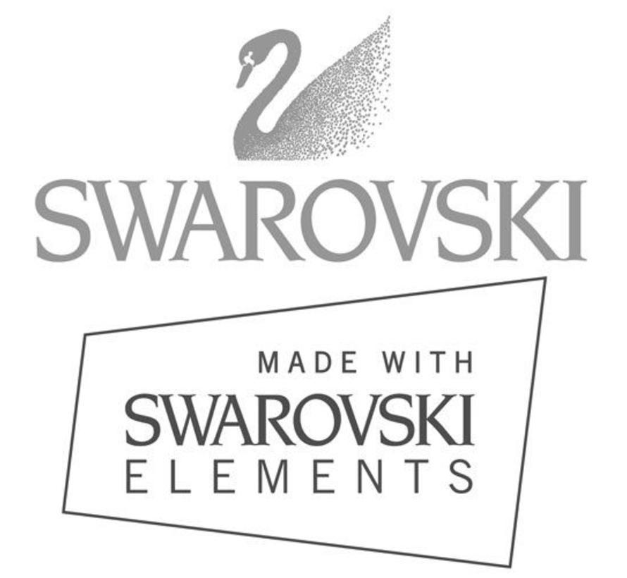 Oorbel 925 zilver Globe Swarovski Light Azore