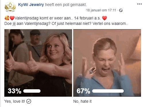Facebook Poll Valentijnsdag