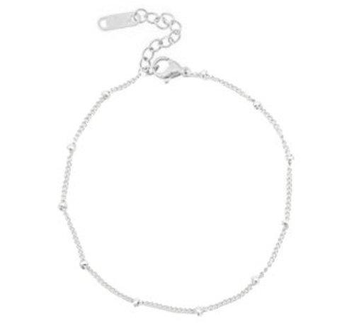 Kywi Jewelry Enkelbandje Balls zilver RVS