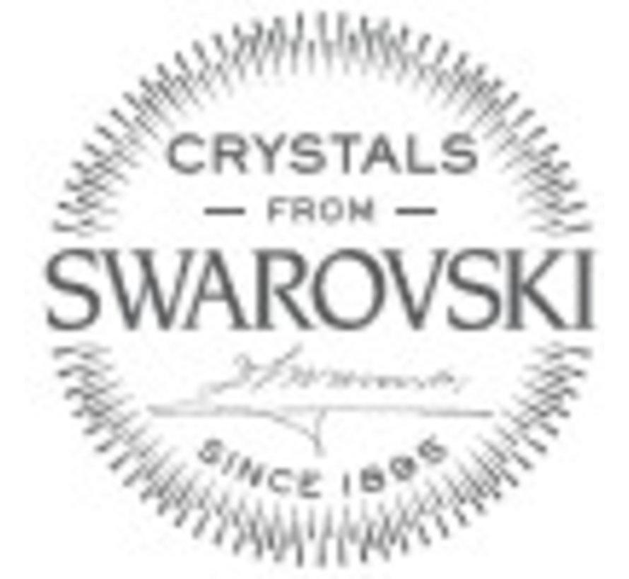 Oorsteker Ishtar Black Swarovski 925 zilver