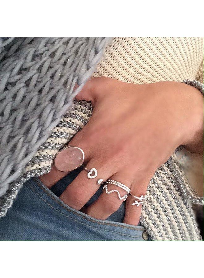 Ring Zirkonia Bolletjes 925 zilver
