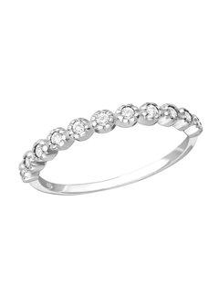 Kywi Jewelry Ring Zirkonia Bolletjes 925 zilver