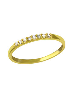 Kywi Jewelry Ring Fine Crystal Verguld 925