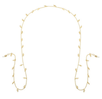 Kywi Jewelry Zonnebrillenkoord little leafs - goud of zilver