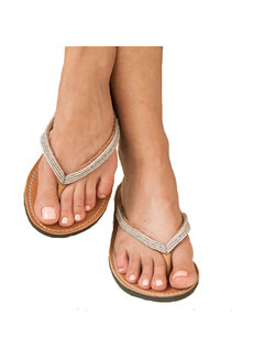 Mzury Mzury slipper Love Grey Silver