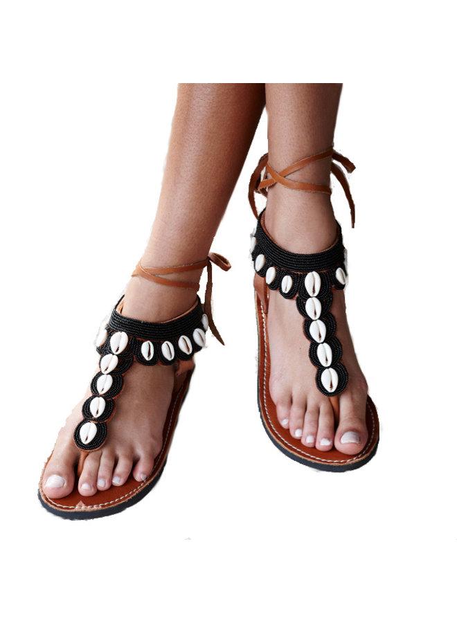Mzury slipper Swahili shell Black