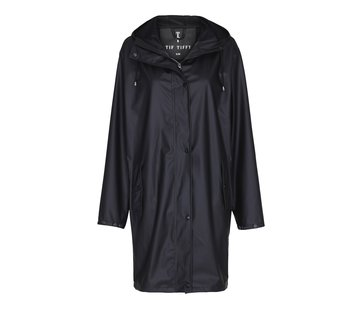 TIF TIFFY REGENJAS Regenjas Marina Long Rainjacket Black