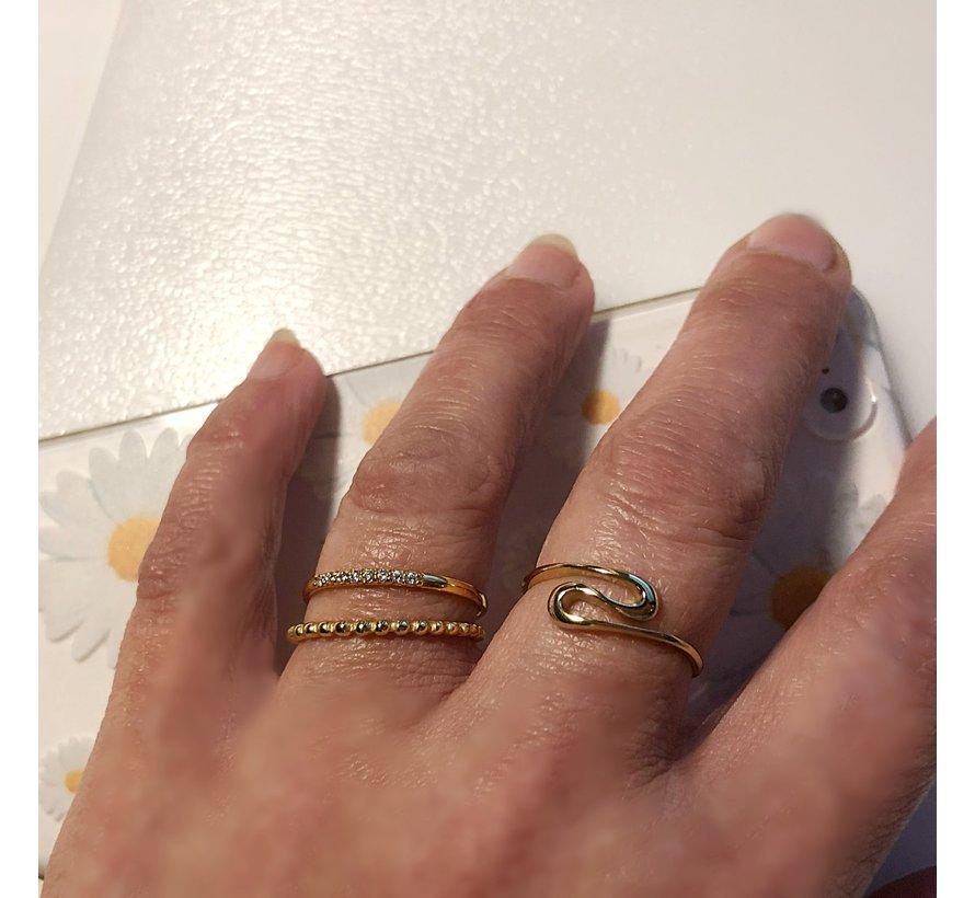 Ring Fine Crystal Verguld 925