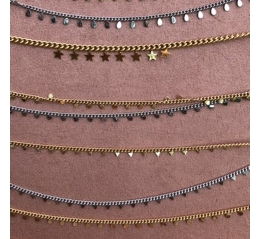 Armband kleine bolletjes zilver steel- By Jam