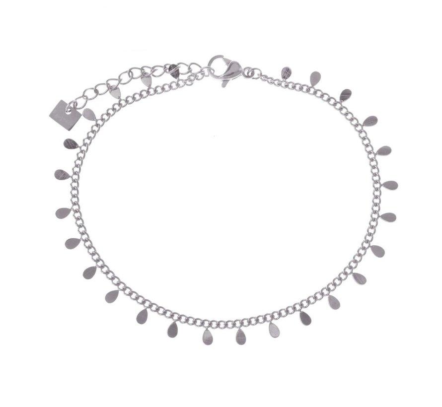 Armband kleine druppeltjes zilver steel- By Jam