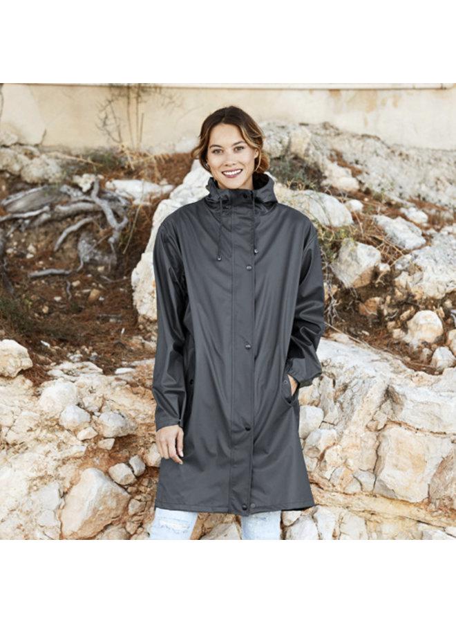 Regenjas Marina Long Rainjacket Black