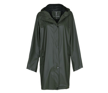 TIF TIFFY REGENJAS Regenjas Marina Long Rainjacket Green