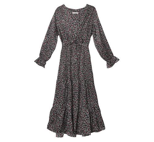 Kywi Jewelry Lange jurk winter zwart wit rood