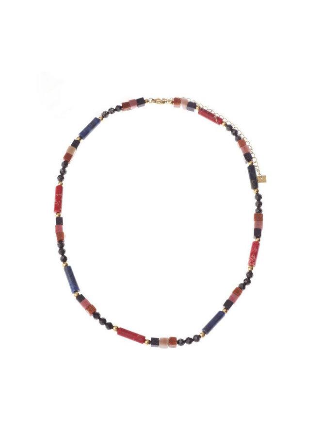 Kralen Choker natuursteen Multicolor - By Jam