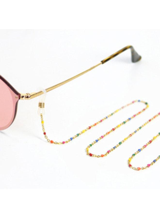 Zonnebrillenkoord Rainbow - goud of zilver