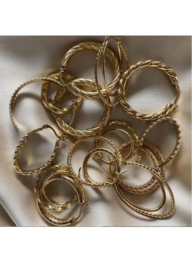 Oorringen Goud Triple- By Jam