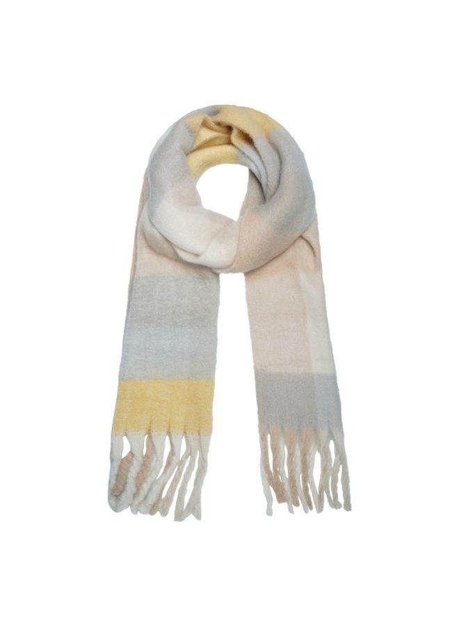 Sjaal Warme Grijs Geel en Nude tinten