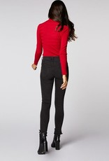 Morgan Skinny ribbed sweater with high collar